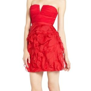 NWT Red BCBGMAXAZRIA Size 0 Cicilly Dress